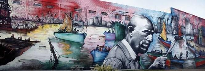 Se inauguro el mural el regreso de quinquela el puente for El mural pelicula argentina